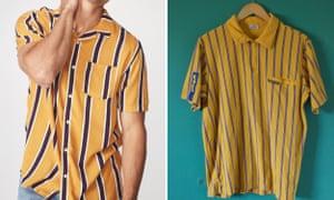 "Cotton On's ""festival shirt"" next to a vintage Ikea worker uniform."
