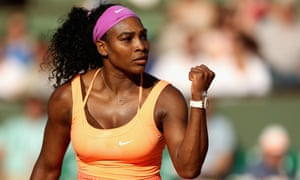 Serena Williams wins her semi-final match against Timea Bacsinszky at the 2015 French Open in Paris.