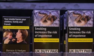 Plain packaging on cigarettes