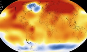 This illustration obtained from NASA on January 20, 2016 shows that 2015 was the warmest year since modern record-keeping began in 1880, according to a new analysis by NASA's Goddard Institute for Space Studies.
