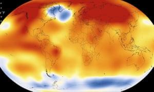 NASA heat map of the world