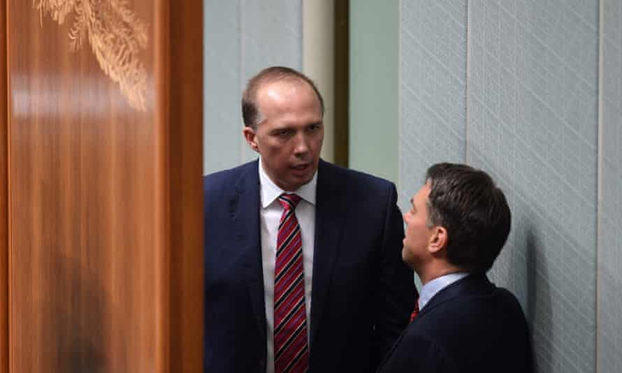 The opposition immigration spokesman, Richard Marles, right, has written to the immigration minister, Peter Dutton, demanding time for Labor to the thoroughly examine the new citizenship bill.