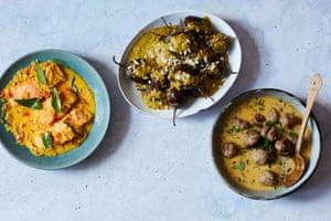 Mallika Basu's coconut milk curries.