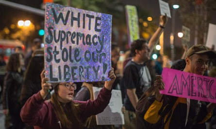 Protest in Los Angeles against the appointment of Stephen Bannon as Donald Trump's chief strategist.