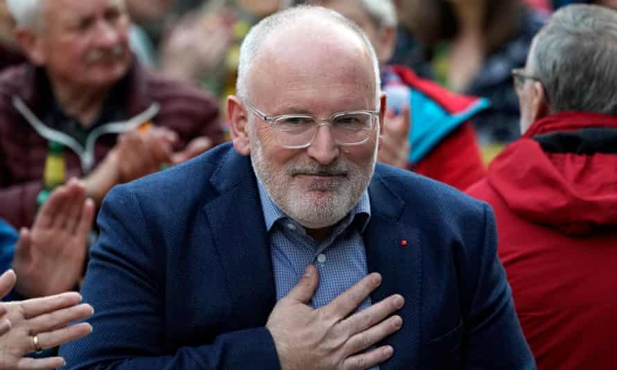 Frans Timmermans at an SPD meeting in Germany last month