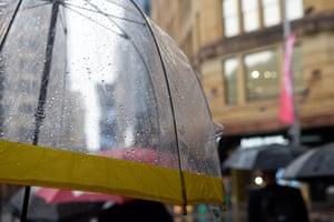 Rain on a Sydney CBD streetscape