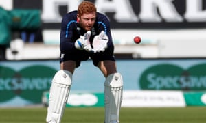 Jonny Bairstow pictured during nets in preparation for the fifth Test against India on Friday.