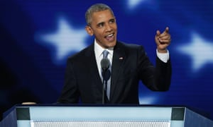 US President Barack Obama delivers remarks on the third day of the Democratic National Convention at the Wells Fargo Center, July 27, 2016 in Philadelphia, Pennsylvania.