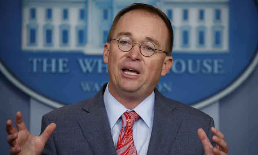 Mick Mulvaney, the acting White House chief of staff, on Thursday.