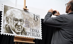 Postage stamp honouring Sir Nicholas Winton