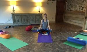 Isabel Choat at the Satvada mindfulness and yoga retreat, West Lexham, Norfolk