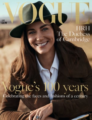 Front cover of Vogue featuring the Duchess of Cambridge