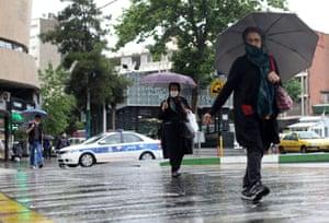 Vali-E-Asr street, in Tehran, on Wednesday.