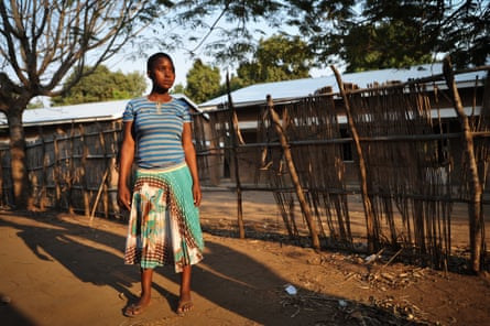 Lucy Anusa, now a 15-year-old mother, has returned to live with her family near Lake Malawi