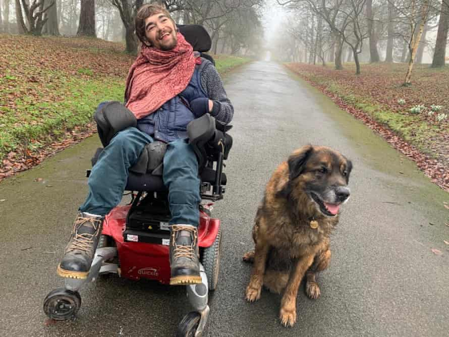 Marchant Barron, 24, who has severe cerebral palsy. Three weeks ago the government said it would make coronavirus tests available to all homecare workers in adult social care, live-in carers and personal assistants but it has not yet happened.