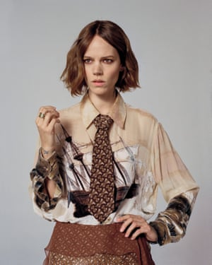 The good ship Burberry: Tisci brings a twist to Burberry's heritage with graphic prints and a new logo.