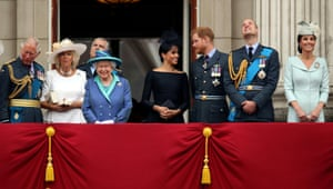 Keluarga kerajaan di balkon Istana Buckingham