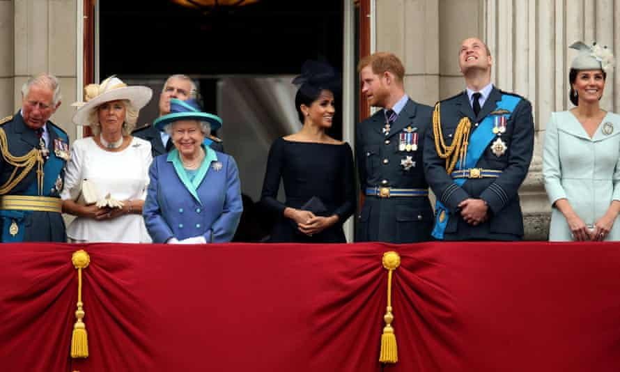 Members of the royal family, pictured on the balcony of Buckingham Palace in 2018.