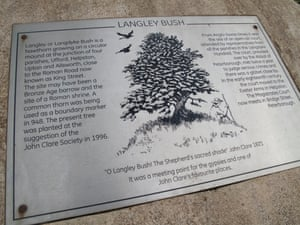 A plaque at the Langley Bush site.