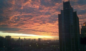 sunset jakarta