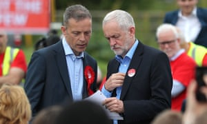 Labour leader Jeremy Corbyn (right) with candidate Matt Rodda in Reading.