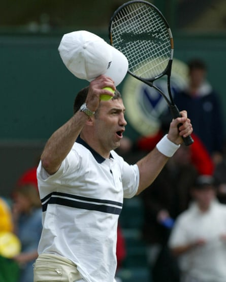 Karl Power on Centre Court at Wimbledon in 2002