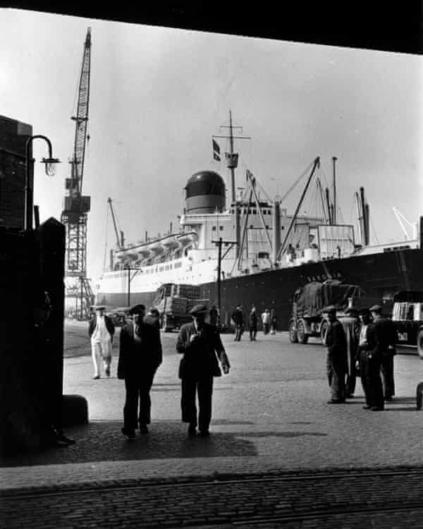 The docks at Liverpool. 1955