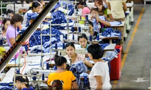Workers at the Shweyi Zabe garment company in Yangon, Myanmar, which produces clothing for international brands.