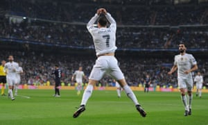 Ronaldo celebrates another goal in Real Madrid's 8-0 defeat of Malmo on Tuesday.