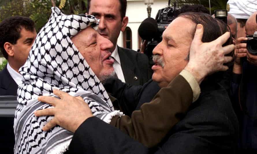 Abdelaziz Bouteflika and Yasser Arafat in 2001.
