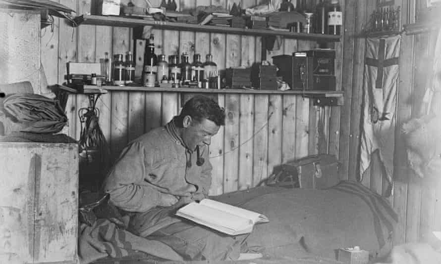 Levick during his stay on Cape Adare, Antarctica, with the Terra Nova expedition from which he later survived being marooned.
