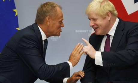 Brexit: Tusk accuses Johnson of 'stupid blame game' as No 10 signals talks about to collapse - as it happened