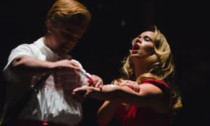 Ben Goffe as Cupid and Ellie Beaven as Venus in Dido, Queen of Carthage.