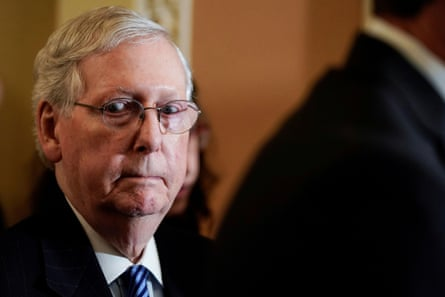 Senate majority leader Mitch McConnell has vowed to work in 'total coordination' with the White House on Trump's defense.