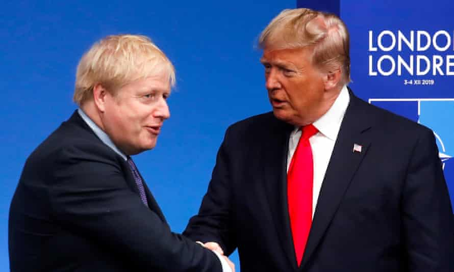 Boris Johnson and Donald Trump, December 2019.