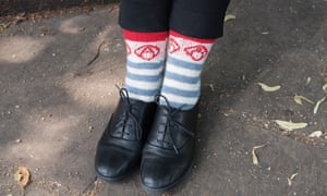 Shy Anarchist Socks  from the book Protest Knits by Geraldine Warner