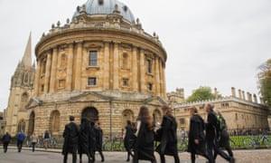 Oxford University students.