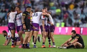 Melbourne Storm players celebrate