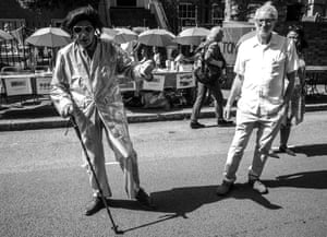 Jeremy Corbyn with Elvis at the Manor Gardens street festival near his home