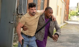 Frank Grillo and Anthony Mackie in Point Blank