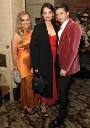 Emma Mackey, centre and friends at Chiltern firehouse
