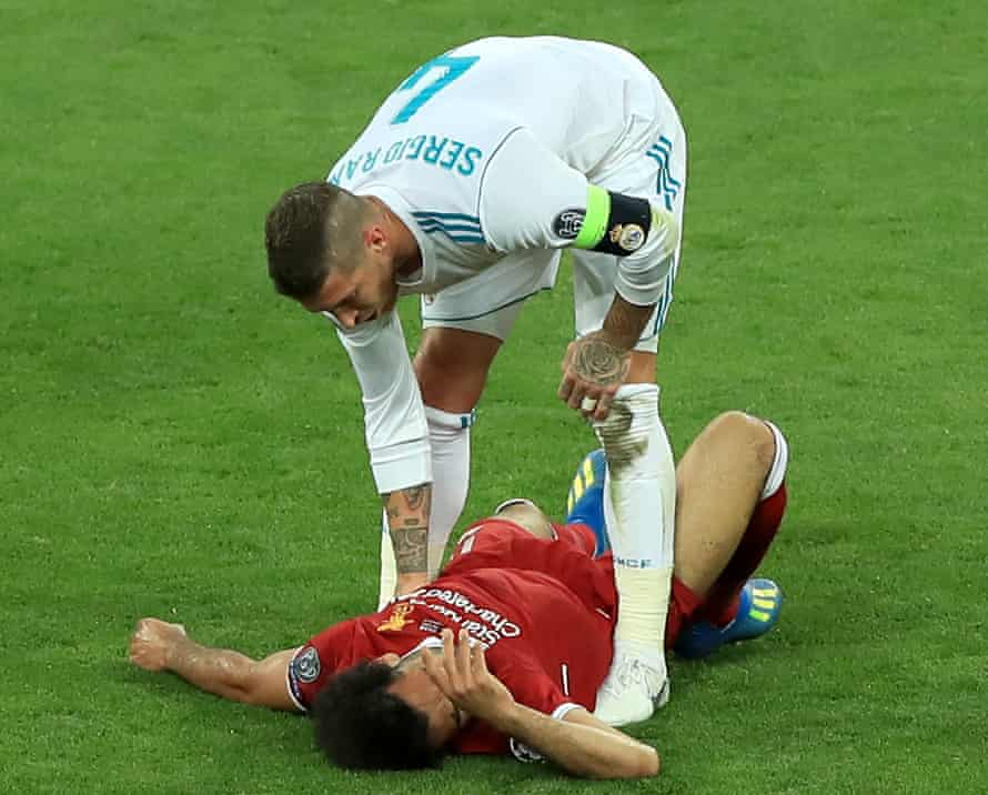 Sergio Ramos's reaction added insult to the injury for Liverpool; he was the first to console Mo Salah on the pitch with a pat on the cheeks.