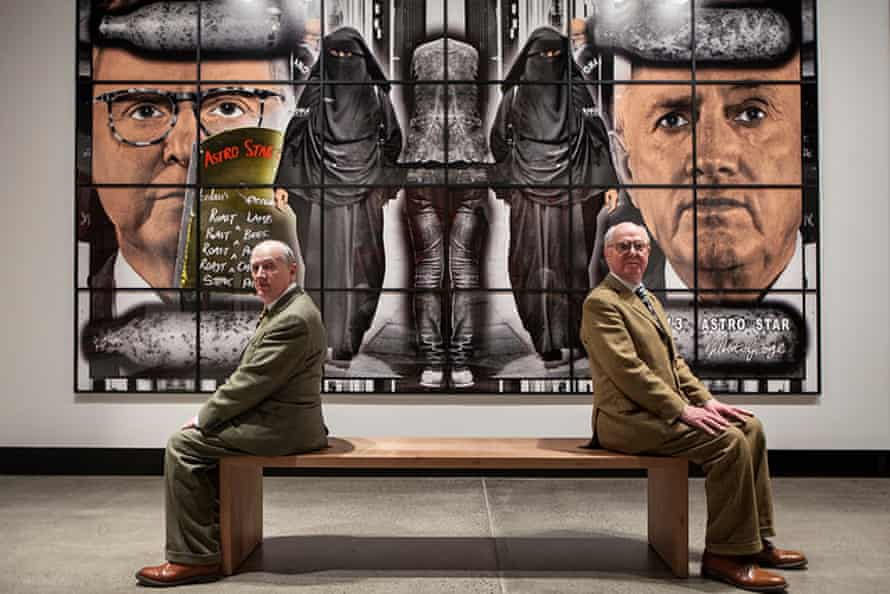 Gilbert & George at Gilbert & George: The Art Exhibition at the Museum of Old and New Art.