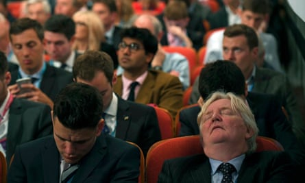 The Philip Hammond effect … delegates drop off during speeches.