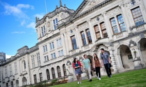 Students at Cardiff University