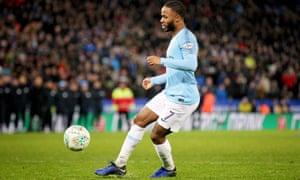 Manchester City's Raheem Sterling.