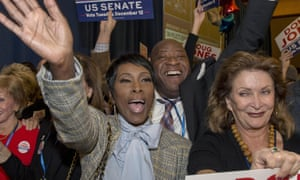 Jones supporters celebrate his victory on Tuesday.