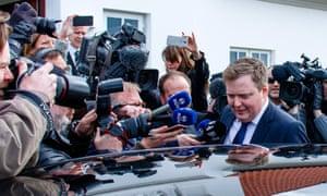 Iceland's prime minister, Sigmundur Davíð Gunnlaugsson