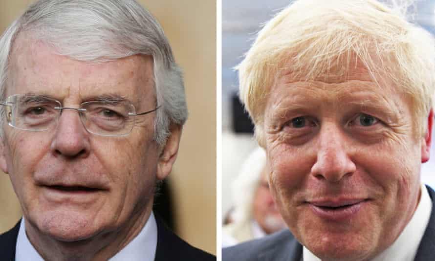 John Major and Boris Johnson
