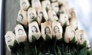 Newtown shooting victims' faces on roses